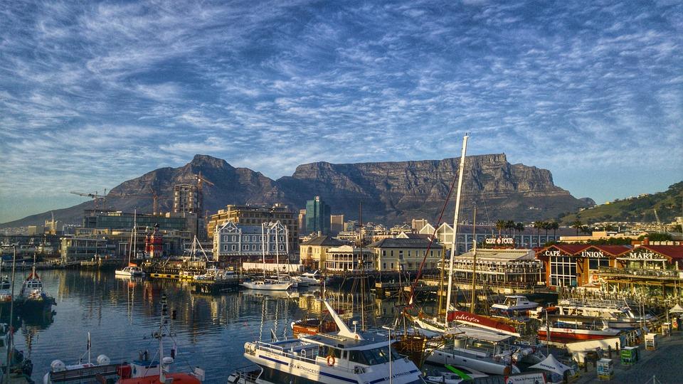 port dans la régio du Cap en Afrique du Sud