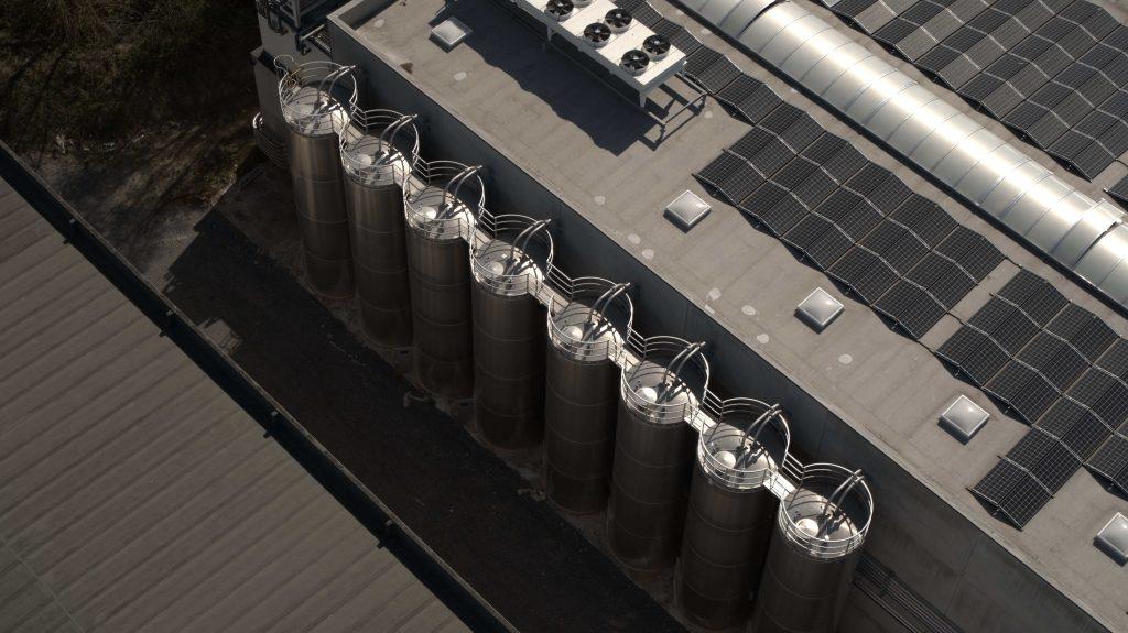 Les silos de l''usine Gamma-wopla en Belgique